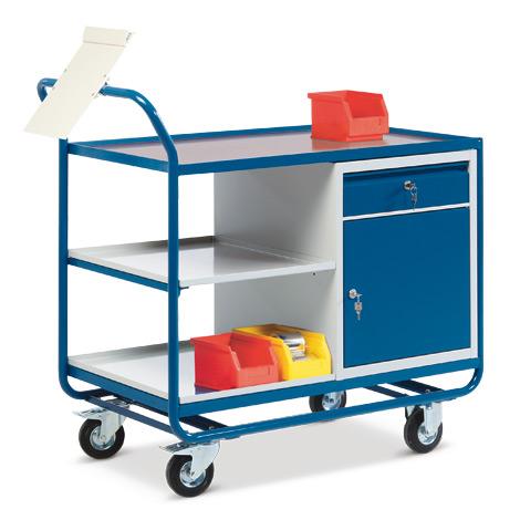 Werkstattwagen mit Schrank + 1 Schublade. Tragkraft 300kg