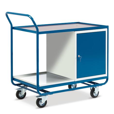 Werkstattwagen mit Schrank + 2 Etagen. Tragkraft 300 kg