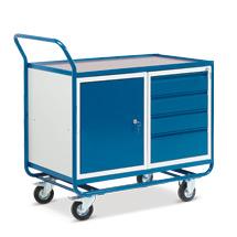 Werkstattwagen mit Schrank + 4 Schubladen. Tragkraft 300 kg
