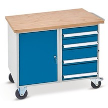 Werkstattwagen mit Schrank + Schubladen