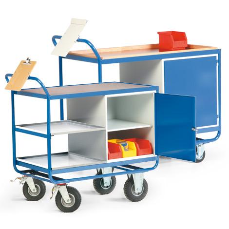Werkstattwagen mit Schrank und 3 Etagen. Tragkraft 300 kg