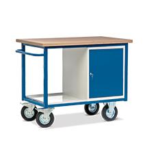 Werkstattwagen mit Schrank und Ablage. Tragkraft 500 kg