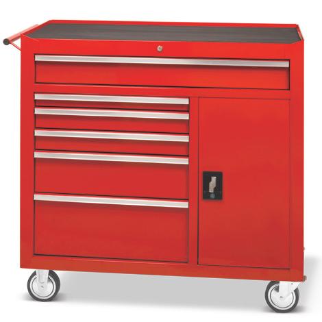 Werkstattwagen Steinbock®. 6 Schubladen, 1 Seitenfach