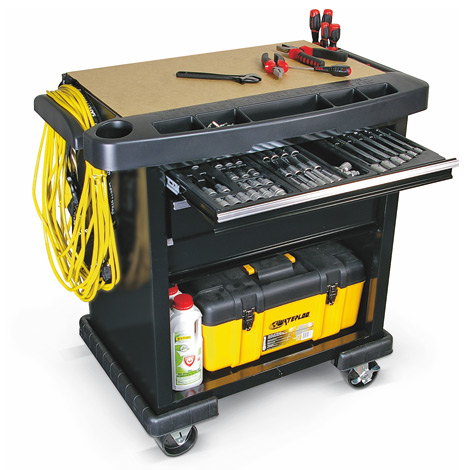 Werkstattwagen Waterloo ™ Projekt-Center. 3 Schubladen + Aufbewahrungsfach