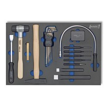 Werkzeug-Satz HAZET®, Winkelschlüssel + Flachmeißel u.a.