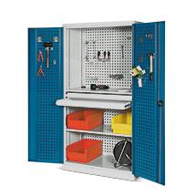 Werkzeugschrank-Set. Türen gelocht. Höhe 1950 mm