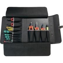 Werkzeugtasche aus Rindsleder, 13 Einsteckfächer