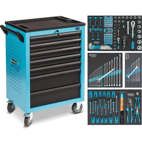 Werkzeugwagen HAZET® Assistent®, inkl. 147-teiligem Werkzeugsortiment