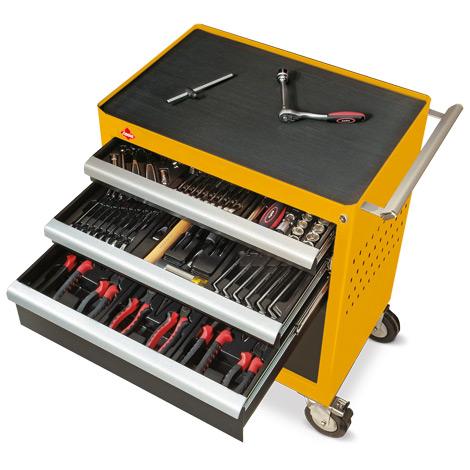 Werkzeugwagen, Komplett-Set mit 3 Schubladen