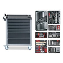Werkzeugwagen VIGOR®, inkl. 205-teiligem Werkzeugsortiment