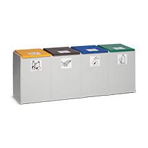 Wertstoff-Sammelbehälter aus Kunststoff, 40 - 60 Liter, 3- bis 4-Fach