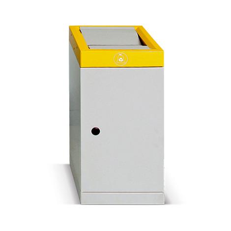 Wertstoff-Sammelbehälter aus verzinktem Stahlblech. 30 oder 70 Liter