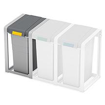 Wertstoff-Sammelsystem aus Kunststoff inklusive Aufklebern zur Kennzeichnung