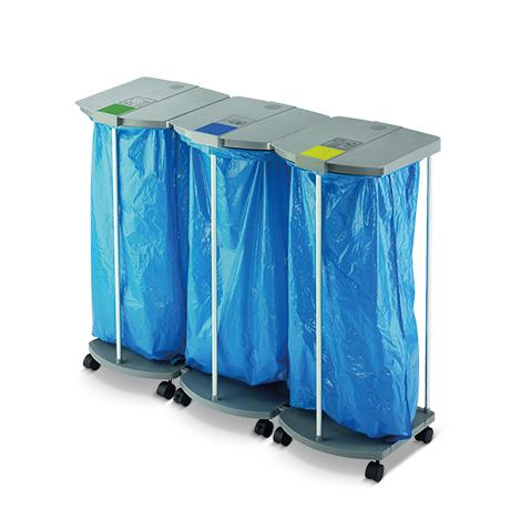 Wertstoff-Sammelsystem für 120-Liter-Säcke, fahrbar