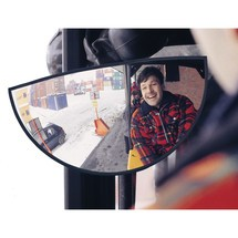 Wide-angle truck mirror