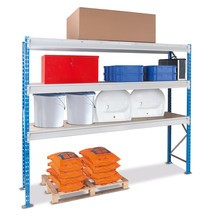 Wide-span rack, with chipboard, base unit