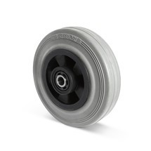 Wiel van massief rubber, model BASIC, PAK-vrij