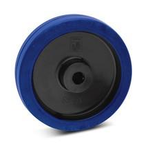 Wiel Wicke van elastisch massief rubber, rollager, laat geen strepen achter
