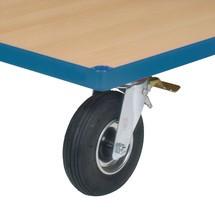 Wielen met luchtbanden voor werkplaatswagen fetra®