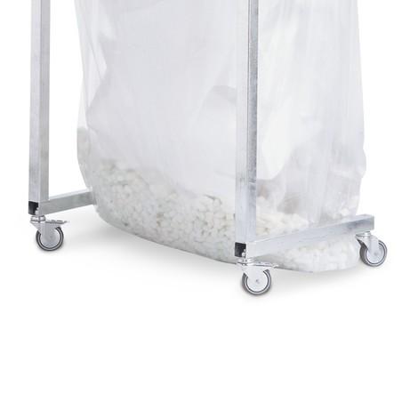 Wielenset, rubber, voor kringloop afvalbak met grote inhoud