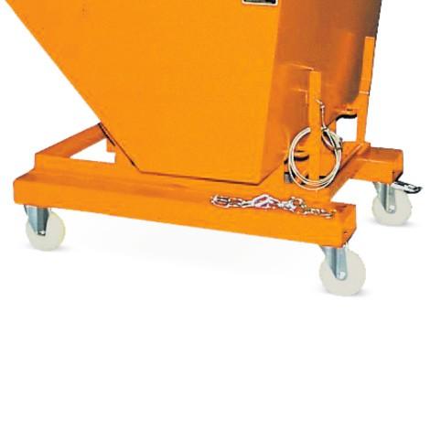 Wieluitrusting 2 stuur- en 2 bokwielen. Capaciteit max. 1000 kg