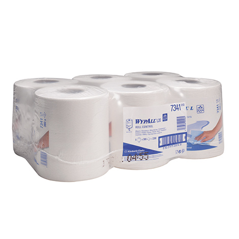 Wischtücher Kleinrolle Kimberly Clark® WYPALL L20, AIRFLEX. 6er-Pack
