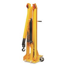 Workshop crane with straddle arms, quick lift, mobile, foldable