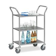 Wózek do serwowania fetra® z powlekanymi półkami