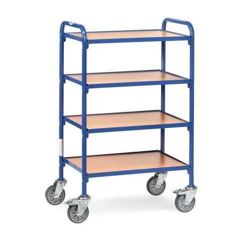Wózek dostawiany fetra® do otwartych pojemników magazynowych, z płytami podłogowymi