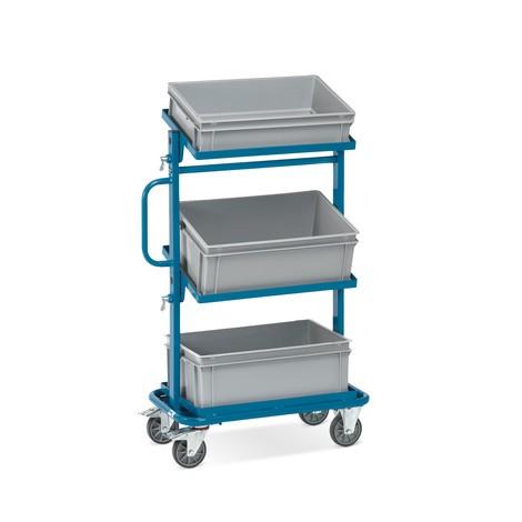 Wózek montażowy fetra®, otwarte ramy, z pojemnikami