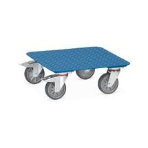 Wózek na skrzynie fetra® z blachą o żeberkach owalnych