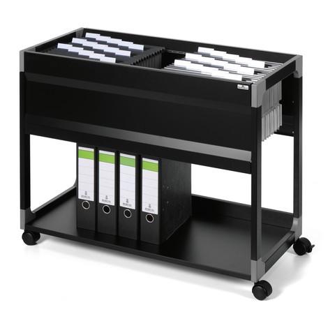 Wózek na teczki zawieszkowe + półka na segregatory z miejscem na 100 teczek