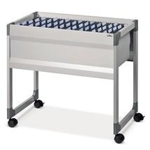 Wózek na teczki zawieszkowe z 1 lub 2 sekcjami do zawieszania