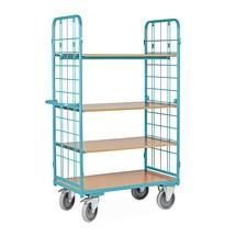 Wózek piętrowy Ameise®, zkratą drucianą, bez ściany tylnej