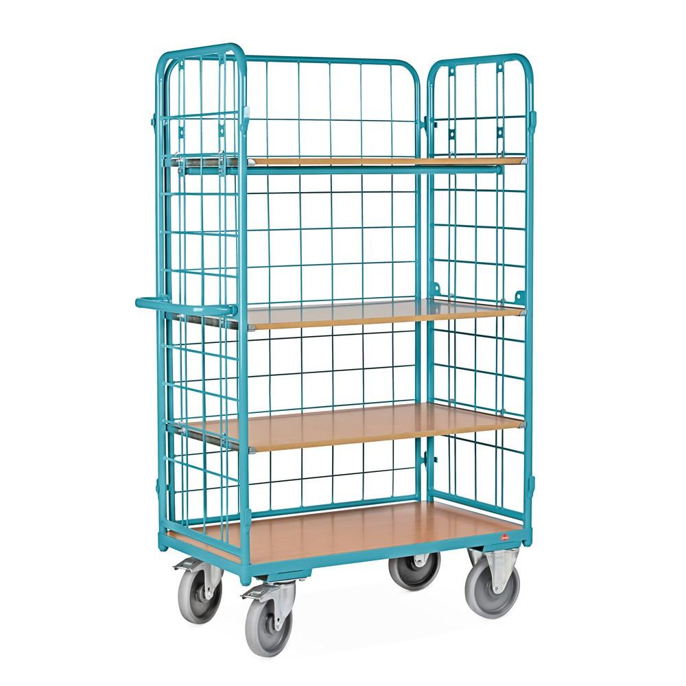 Wózek piętrowy Ameise®, zkratą drucianą, zamknięty z 3 stron
