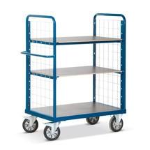 Wózek piętrowy do transportu ciężkich towarów, 2 ściany kratowe