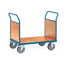 Wózek platformowy fetra®, 2-stronny ze ścianami drewnianymi