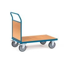 Wózek platformowy fetra®, z drewnianą ścianą czołową