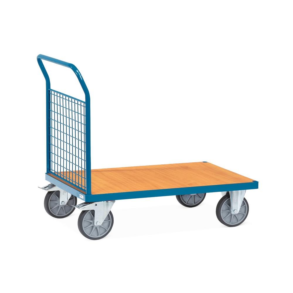 Wózek platformowy fetra® ze ścianą czołową z kratki