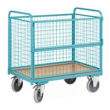 Wózek skrzyniowy Ameise, 4 scianki kratowe, udzwig 500kg
