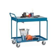 Wózek stołowy fetra® zwanienkami nieprzepuszczającymi oleju, rusztem kratowym i kurkiem odpływowym