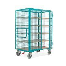 Wózek szafowy Ameise®, ściany kratowe, turkusowo-niebieski