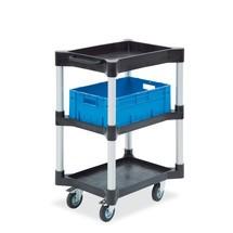 Wózek uniwersalny z półką i tacką, wykonany z polietylenu