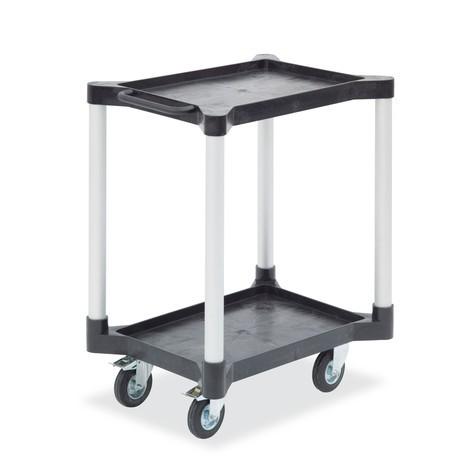 Wózek uniwersalny z półkami, wykonany z polietylenu