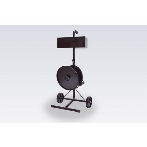 Wózek z dozownikiem do płaskich taśm z redlicą do 76 mm średnicy rdzenia