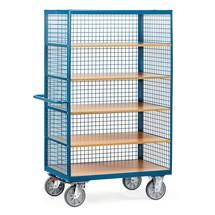 Wózek z szafką fetra®, 3 ściany kratowe