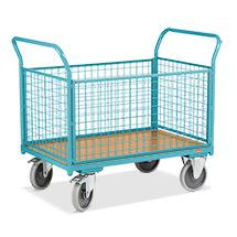 Wózki platformowe Ameise® z 4 ściankami kratowymi. Udźwig 500 kg. Różne rozmiary.