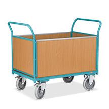 Wózki skrzyniowe Ameise® z 4 ściankami drewnianymi. Udźwig 500 kg. Różne rozmiary.