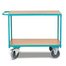 Wózki stołowe Ameise® do transportu ciężkich ładunków. Udźwig do 500 kg. 2 powierzchnie ładunkowe. Różne rozmiary.