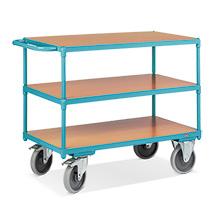 Wózki stołowe Ameise® do transportu ciężkich ładunków. Udźwig do 500 kg. 3 powierzchnie ładunkowe. Różne rozmiary.